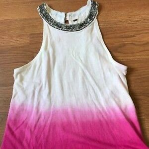 Free People pink ombré necklace tank